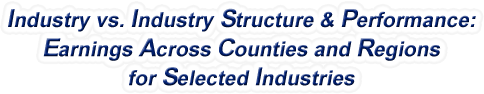 Vermont - Industry vs. Industry Structure & Performance: Employment Across Counties and Regions for Selected Industries